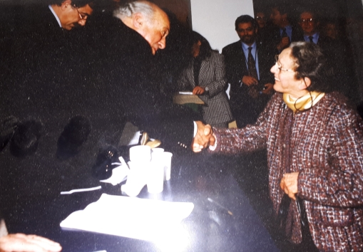 Chiara Pico ritira il Premio Donna dell'Anno 1990